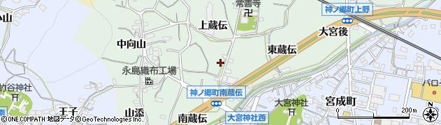 愛知県蒲郡市神ノ郷町(上蔵伝)周辺の地図
