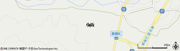 岡山県和気町(和気郡)小坂周辺の地図