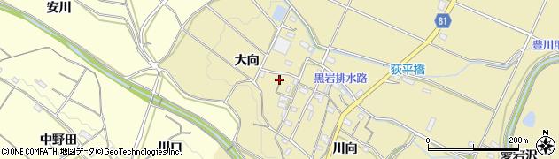 愛知県豊橋市石巻萩平町(大向)周辺の地図