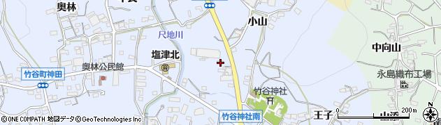 愛知県蒲郡市竹谷町(井ノ上)周辺の地図