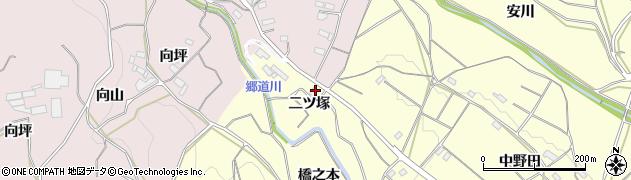 愛知県豊橋市石巻平野町(二ツ塚)周辺の地図