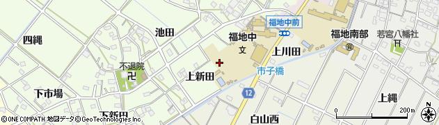 愛知県西尾市上道目記町(上新田)周辺の地図