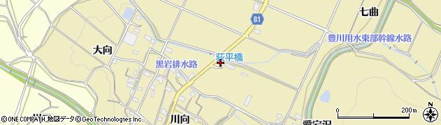愛知県豊橋市石巻萩平町(赤土)周辺の地図