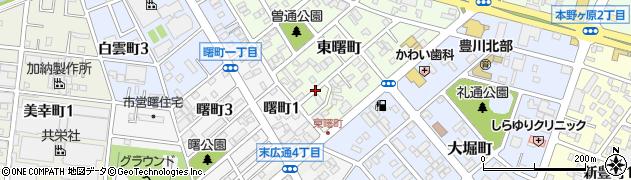 愛知県豊川市東曙町周辺の地図