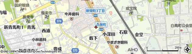 愛知県豊川市久保町(川上)周辺の地図