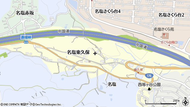 〒669-1148 兵庫県西宮市名塩東久保の地図