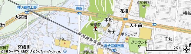 天桂院周辺の地図