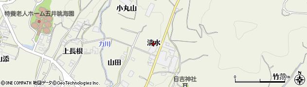 愛知県蒲郡市豊岡町(清水)周辺の地図