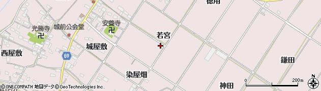 愛知県豊橋市賀茂町(若宮)周辺の地図