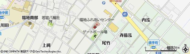 愛知県西尾市斉藤町(向縄)周辺の地図