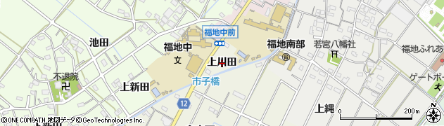 愛知県西尾市市子町(上川田)周辺の地図