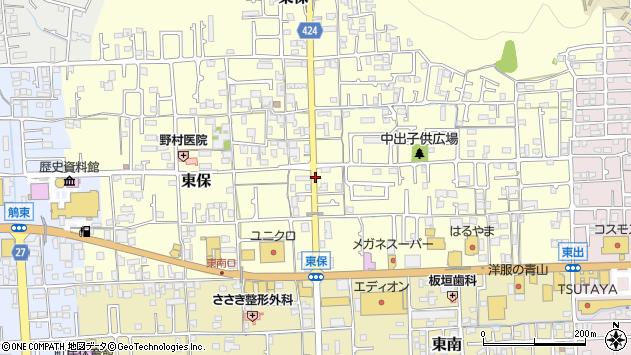 〒671-1524 兵庫県揖保郡太子町東保の地図
