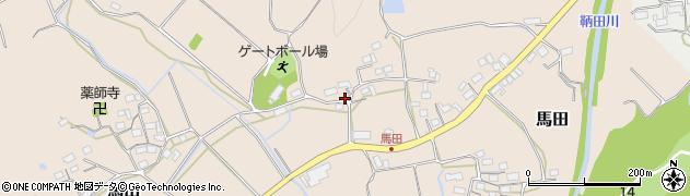 三重県伊賀市馬田周辺の地図