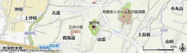 愛知県蒲郡市五井町(堂前)周辺の地図