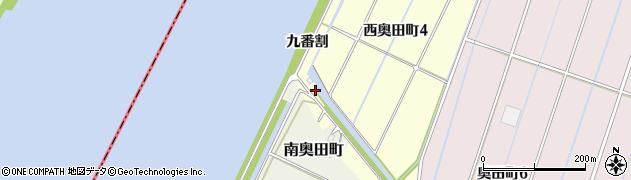愛知県西尾市西奥田町(九番割)周辺の地図
