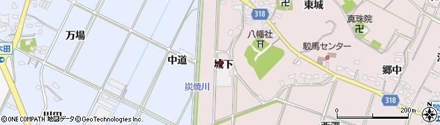 愛知県西尾市吉良町寺嶋(城下)周辺の地図
