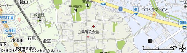 愛知県豊川市白鳥町(上郷中)周辺の地図