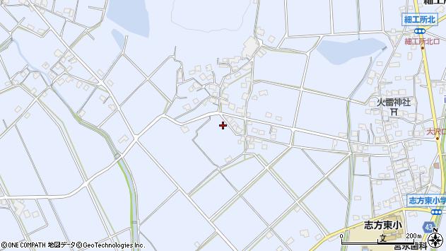 〒675-0301 兵庫県加古川市志方町大澤の地図