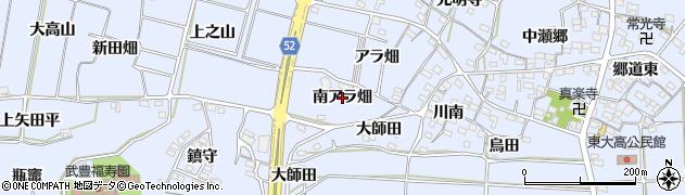 愛知県武豊町(知多郡)東大高(南アラ畑)周辺の地図