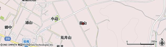 愛知県西尾市吉良町駮馬(藤山)周辺の地図