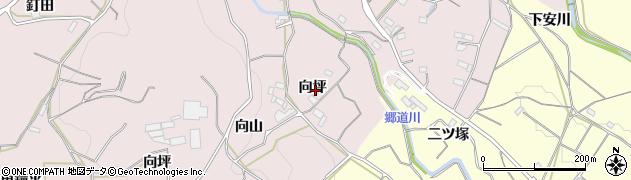 愛知県豊橋市石巻西川町(向坪)周辺の地図