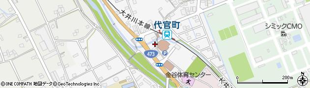 静岡県島田市金谷代官町周辺の地図