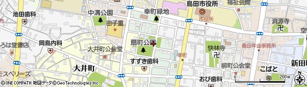静岡県島田市扇町周辺の地図