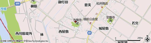 愛知県豊橋市賀茂町(城前)周辺の地図