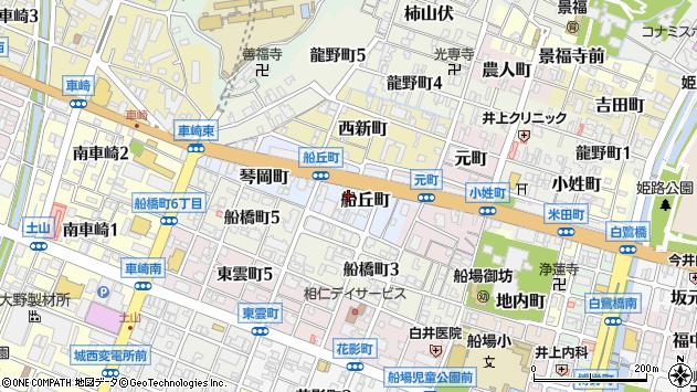 〒670-0034 兵庫県姫路市船丘町の地図