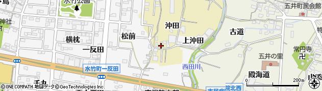 愛知県蒲郡市清田町(沖田)周辺の地図