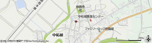 三重県伊賀市中柘植周辺の地図