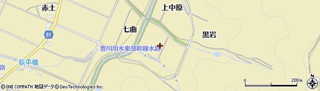 愛知県豊橋市石巻萩平町(七曲)周辺の地図