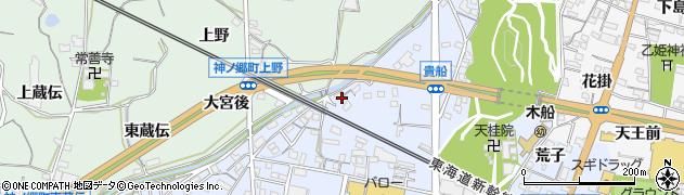 愛知県蒲郡市蒲郡町周辺の地図