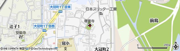 尊重寺周辺の地図