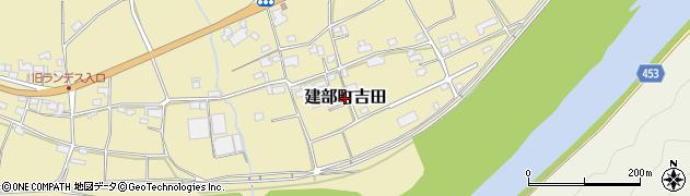 岡山県岡山市北区建部町吉田周辺の地図