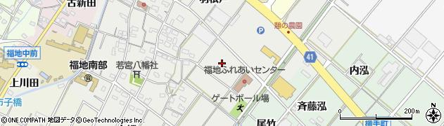 愛知県西尾市斉藤町(前田)周辺の地図
