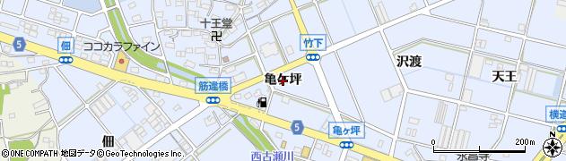 愛知県豊川市八幡町(亀ケ坪)周辺の地図