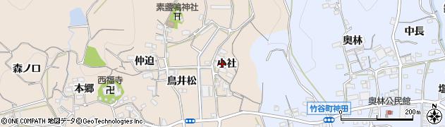愛知県蒲郡市西迫町(小社)周辺の地図