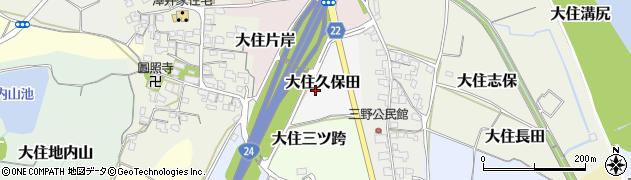 京都府京田辺市大住久保田周辺の地図