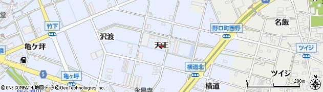 愛知県豊川市八幡町(天王)周辺の地図