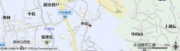 愛知県蒲郡市竹谷町(小山)周辺の地図