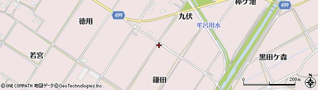 愛知県豊橋市賀茂町(鎌田)周辺の地図