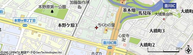 愛知県豊川市豊が丘町周辺の地図