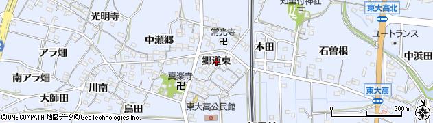 愛知県武豊町(知多郡)東大高(郷道東)周辺の地図