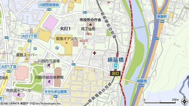 〒666-0012 兵庫県川西市絹延町の地図