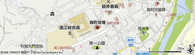 静岡県周智郡森町周辺の地図