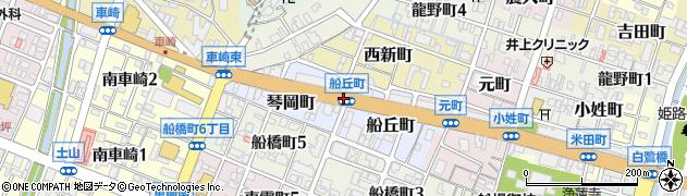 船丘町周辺の地図