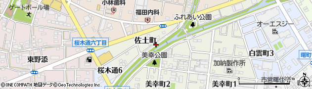 愛知県豊川市佐土町周辺の地図