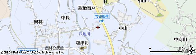 愛知県蒲郡市竹谷町(鍜治替戸)周辺の地図