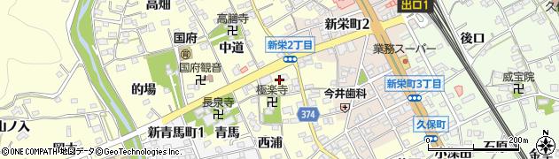 愛知県豊川市国府町(流霞)周辺の地図